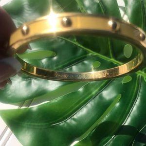 COACH Gold Tone Stud Bangle Bracelet